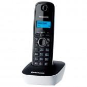 Радиотелефон Panasonic kx-tg1611ruw(белый) аон, русс.меню
