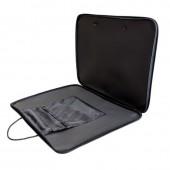 Папка-сумка А3, на молнии с ручками офисная, черная, нейлон, 1Ш32