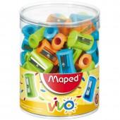 Точилка пластик, 1 отверстие, Maped Vivo, цвет в ассортименте