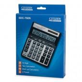 """Калькулятор настольный, бухг. """"Citizen"""" sdc-760N, 16-разр., Dual Power ст.1"""
