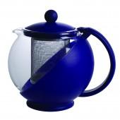 Чайник заварочный 0,75л стекло пласт.сито-хром-ник.стальktz-075-003