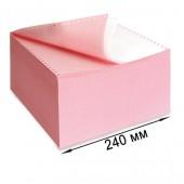 Бумага для принтера в стопе (ЛПУ) 240х12, 2-сл. Drescher, цвет, 900л/уп, самокапир.