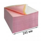 Бумага для принтера в стопе (ЛПУ) 240х12, 3-сл. Drescher, цвет, 600л/уп, самокапир.