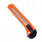 Нож канцелярский 18мм, с фиксатором, упаковка полибег  ст.1