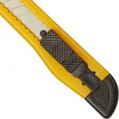 Нож канцелярский  9мм, с фиксатором, упаковка полибег  ст.1