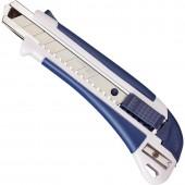 Нож канцелярский  18мм, с антискользящими вставками и точилкой для карандаша  ст.1