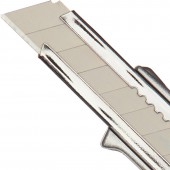 Нож канцелярский  18мм, металлический с цинковым покрытием  ст.1