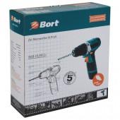 Дрель аккумуляторная Bort bab-10,8N-Li 10.8В, 1.3Ач, рев, подсв, кейс (93728410), ст.1