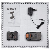 Дрель аккумуляторная Bort bab-18Ux2-dk 18В, 2х1.3Ач, 2ск, подсв, кейс(93726805), ст.1