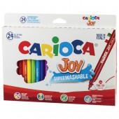 """Фломастеры 24цв, """"Carioca """"Joy"""", смываемые, картон.упак., блистер, ст.1"""
