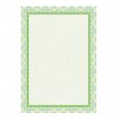 Сертификат-бумага Decadry dc-Osd4020, зеленая, спираль, А4, 115г, пачка 25л., с вод.знак.