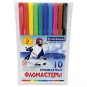 Фломастеры 10цв, Пингвины,