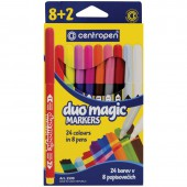 """Фломастеры 8+2=24 цв.,""""Duomagic"""",перекрашивающие, европодвес"""
