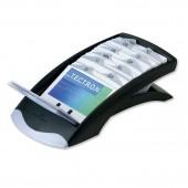 Визитница, настольная Durable Visifix Desk, на 200 визиток с алфавитными разделителями, 12 разделов, черная