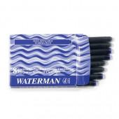 Картридж Waterman с чернилами для перьевой ручки, синий, 8шт/уп, в картонной упаковке, 52002
