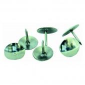 Кнопки канцелярские 100шт., никелированные, в картонной коробке