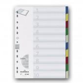 Разделитель А4+, пластик,  5 листов, 5цв, Durable,