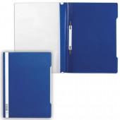 Скоросшиватель пластик, А4, Durable, темно-синий, штрих-код