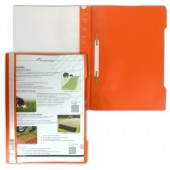 Скоросшиватель пластик, А4, Durable, оранжевый, штрих-код