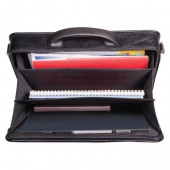 Портфель кожзам, Паритет, ручка, клапан, 3 кармана., разм.380х290х60,
