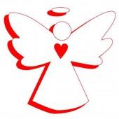 Дырокол фигурный - панч креативный Ангелок, объемный, d=16мм, блистер с европодвесом