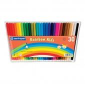 Фломастеры 30цв, Rainbow Kids,