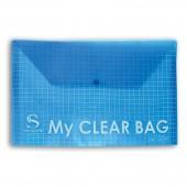 Папка-конверт на кнопке, А5, Sponsor, My Clear Bag