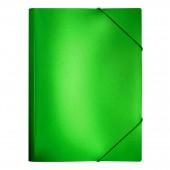 Папка на резинке Index Metallic, А4, пластик