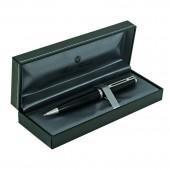 Ручка шариковая Tramonto, глянцевый черный лакированый корпус, хромированые детали