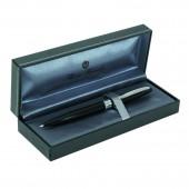 Ручка шариковая Dito, глянцевый черный лакированый корпус, хромированые детали