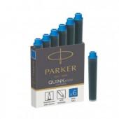 Картридж-мини Parker с чернилами Quink для перьевой ручки, синий, 6шт/уп,