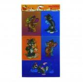 Наклейки 3D Action! tom& Jerry 12*20,5см, 6 дизайнов