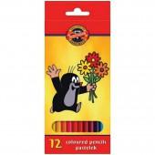 Карандаши цветные 12цв, Крот, картон.упак., с европодвесом