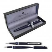 Ручка шариковая Charme, темно-синий корпус, акрил. вставка, хромированные детали