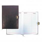 Записная книжка 80х150мм, 64л, кожа, малая, без кнопки, коричневая
