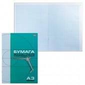 Бумага миллиметровая, А3, 8 листов, голубая сетка, Хатбер,