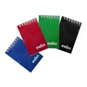 Блокнот А4,  60л, спираль, клетка, Index, Office classic, синий, ламиниров. обл,