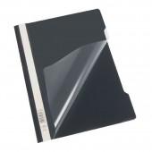 Скоросшиватель пластик, А4, Durable, черный, штрих-код