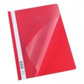 Скоросшиватель пластик, А4, Durable, красный, штрих-код