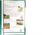 Скоросшиватель пластик, А4, Durable, зеленый, штрих-код