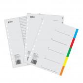 Разделитель А4, пластик, 12 листов, цифровой, Index,