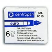 Ампулы для перьевой ручки, Centropen, 6 шт/уп, синие