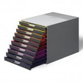 Короб для документов Durable Varicolor, 10 выдвижных ящиков, со стопорами и табуляторами