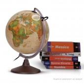 Глобус Marco Polo с двойной картой, античный, диаметр 30 см, подсветка, лупа, пласт подставка
