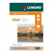 Фотобумага Lomond Matt ink jet, А4, 140г/м, 100л, матовая, односторонняя, ст.1