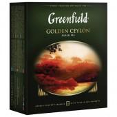 Чай черный Greenfield Golden Ceylon, цейлонс., 100пак/уп, ст.9