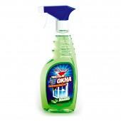 """Жидкость для мытья стекол """"Золушка"""" Чистые окна, Яблоко, с курком, 500мл, ст.12"""