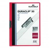 Папка с клипом Durable Duraclip Original, А4, 30 листов, с прозрачным верхним листом