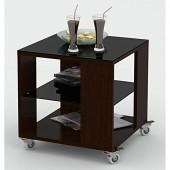 Стол журнальный me_Beauty Style 6 венге, стекло черное