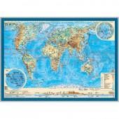 """Карта настольная """"Мир"""". Физическая 1:55 млн."""